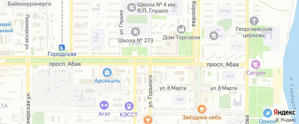 Садовая улица на карте поселка Акая с номерами домов