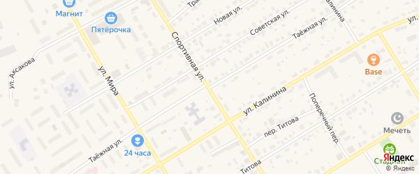 Таежная улица на карте Югорска с номерами домов