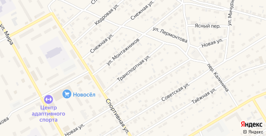 Транспортная улица в Югорске с номерами домов на карте. Спутник и схема онлайн