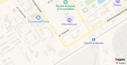 Улица Кирова в Югорске с номерами домов на карте. Спутник и схема онлайн