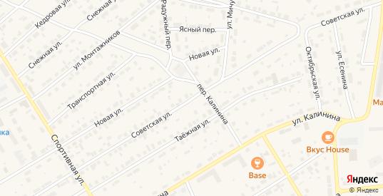 Советская улица в Югорске с номерами домов на карте. Спутник и схема онлайн
