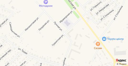 Лунная улица в Югорске с номерами домов на карте. Спутник и схема онлайн