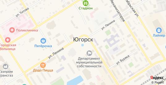 Километр Автодорога Югорск-Агириш в Югорске с номерами домов на карте. Спутник и схема онлайн