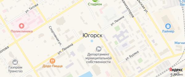 Дорога Югорск-Агириш 5 км на карте Югорска с номерами домов