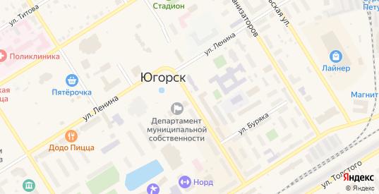 Улица 40 лет Победы в Югорске с номерами домов на карте. Спутник и схема онлайн