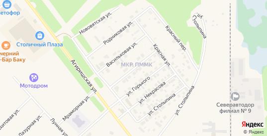 Полевая улица в Югорске с номерами домов на карте. Спутник и схема онлайн