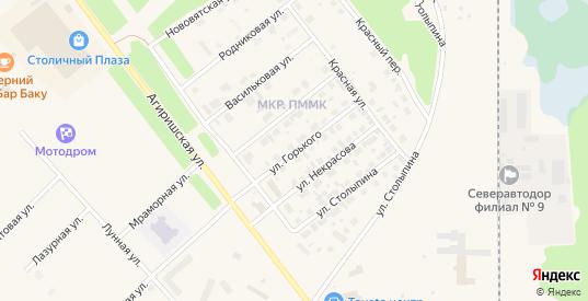 Улица Горького в Югорске с номерами домов на карте. Спутник и схема онлайн
