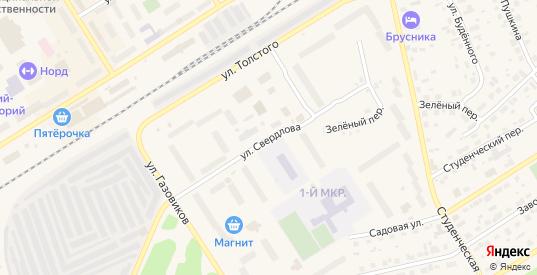Улица Свердлова в Югорске с номерами домов на карте. Спутник и схема онлайн