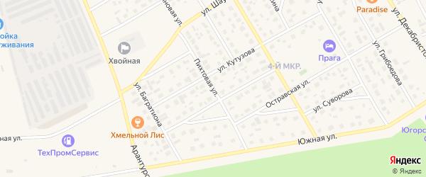 Пихтовая улица на карте Югорска с номерами домов