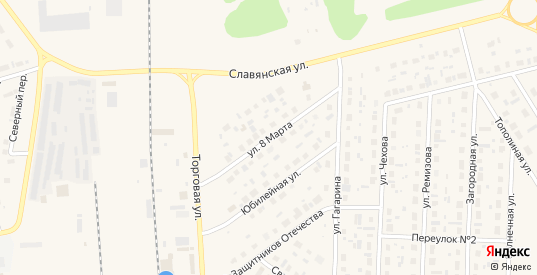 Улица 8 Марта в Югорске с номерами домов на карте. Спутник и схема онлайн