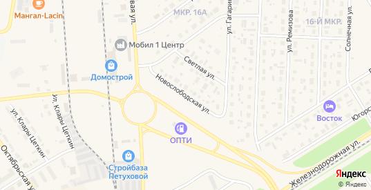 Новослободская улица в Югорске с номерами домов на карте. Спутник и схема онлайн