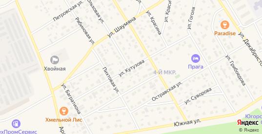 Улица Кутузова в Югорске с номерами домов на карте. Спутник и схема онлайн