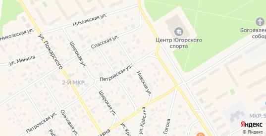 Невская улица в Югорске с номерами домов на карте. Спутник и схема онлайн