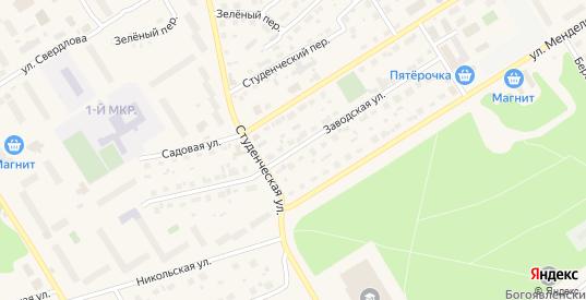 Заводская улица в Югорске с номерами домов на карте. Спутник и схема онлайн