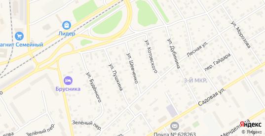 Улица Шевченко в Югорске с номерами домов на карте. Спутник и схема онлайн