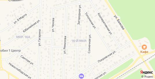 Загородная улица в Югорске с номерами домов на карте. Спутник и схема онлайн