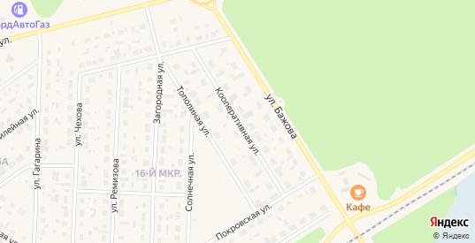 Кооперативная улица в Югорске с номерами домов на карте. Спутник и схема онлайн