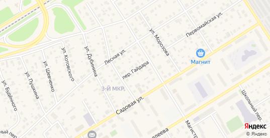 Переулок Гайдара в Югорске с номерами домов на карте. Спутник и схема онлайн