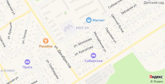 Улица Шолохова в Югорске с номерами домов на карте. Спутник и схема онлайн