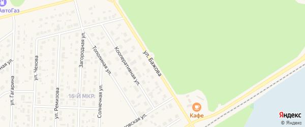 Улица Бажова на карте Югорска с номерами домов