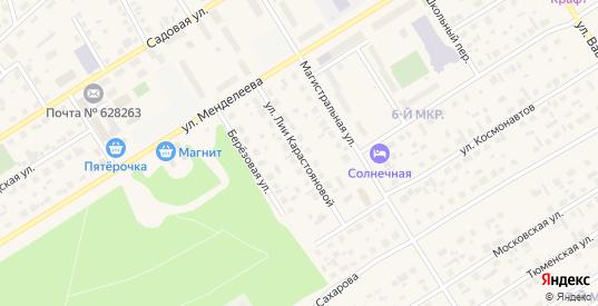 Улица Лии Карастояновой в Югорске с номерами домов на карте. Спутник и схема онлайн