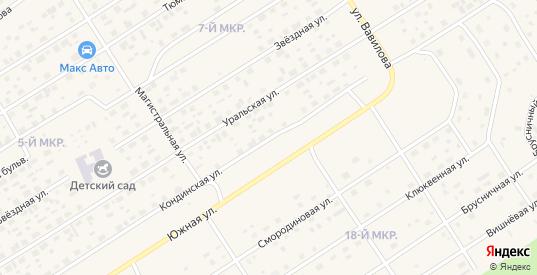 Кондинская улица в Югорске с номерами домов на карте. Спутник и схема онлайн