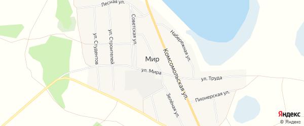 Карта села Мира в Курганской области с улицами и номерами домов