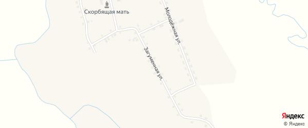Загуменная улица на карте деревни Панова Свердловской области с номерами домов