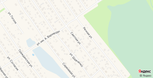 Светлая улица в Советском с номерами домов на карте. Спутник и схема онлайн