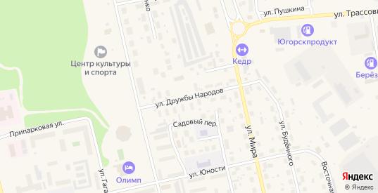Улица Дружбы Народов в Советском с номерами домов на карте. Спутник и схема онлайн
