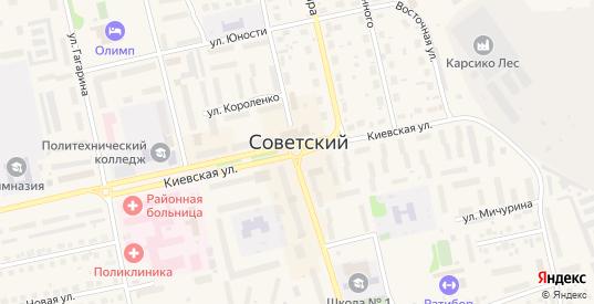 Улица Комарова в Советском с номерами домов на карте. Спутник и схема онлайн
