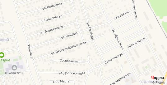 Славянская улица в Советском с номерами домов на карте. Спутник и схема онлайн