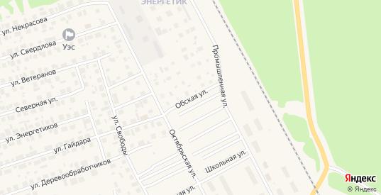 Обская улица в Советском с номерами домов на карте. Спутник и схема онлайн