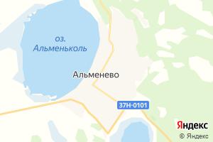 Карта с. Альменево Курганская область