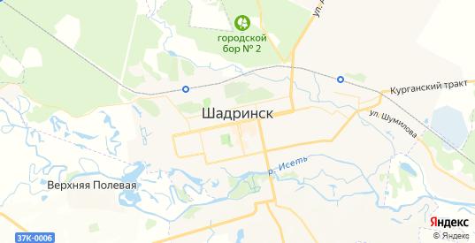 Карта Шадринска с улицами и домами подробная. Показать со спутника номера домов онлайн