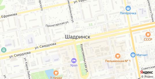 Территория ГСК 56 в Шадринске с номерами домов на карте. Спутник и схема онлайн