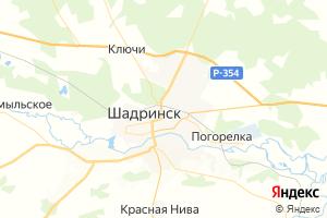 Карта г. Шадринск Курганская область