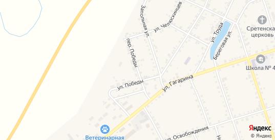 Переулок Победы в Туринске с номерами домов на карте. Спутник и схема онлайн