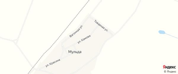 Карта поселка Мульды города Воркуты в Коми с улицами и номерами домов