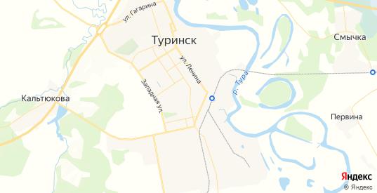 Карта Туринска с улицами и домами подробная. Показать со спутника номера домов онлайн