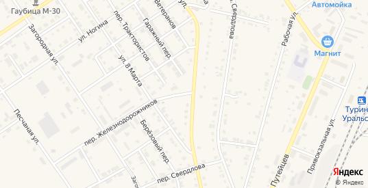 Поселок Рабочий Городок в Туринске с номерами домов на карте. Спутник и схема онлайн