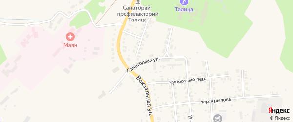Санаторная улица на карте Талицы с номерами домов