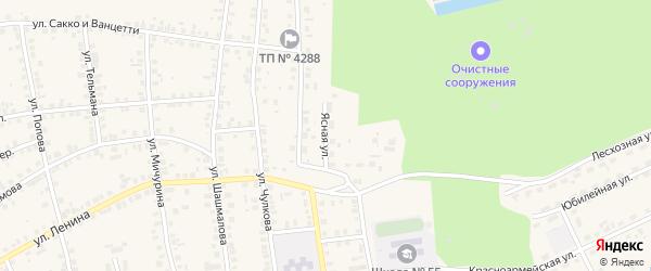 Ясная улица на карте Талицы с номерами домов