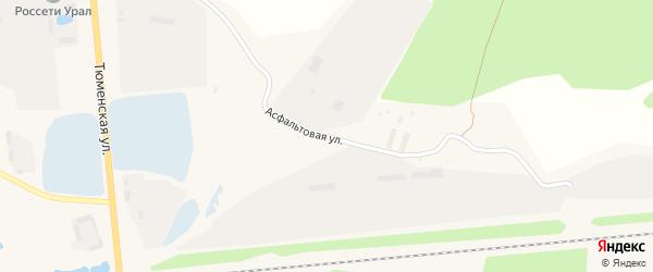 Асфальтовая улица на карте Троицкого поселка Свердловской области с номерами домов