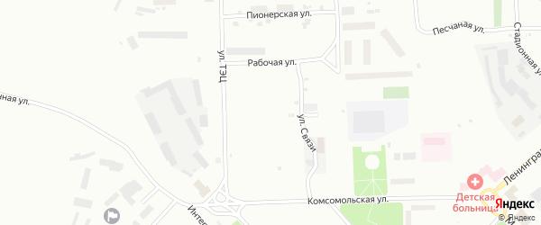 Поселковая 1-я улица на карте Воркуты с номерами домов
