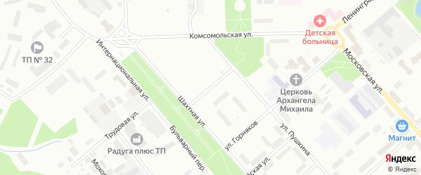 Театральная улица на карте Воркуты с номерами домов