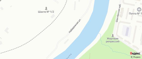 Набережная улица на карте поселка Мескашора с номерами домов