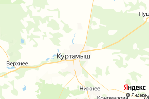 Карта г. Куртамыш Курганская область
