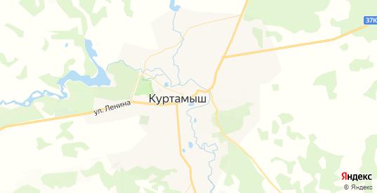 Карта Куртамыша с улицами и домами подробная. Показать со спутника номера домов онлайн