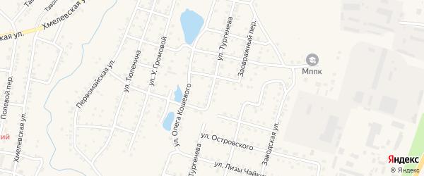 Улица Тургенева на карте Куртамыша с номерами домов